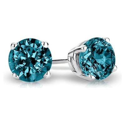 Blue-Solitaire-Diamond-Stud-Earrings-3